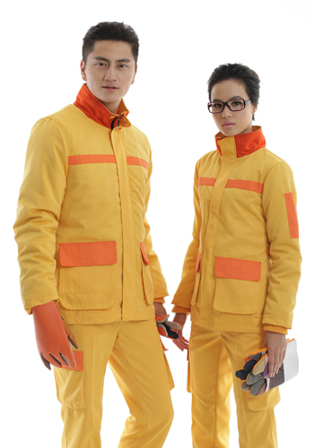 sbf胜博发999可脱里防静电工装呢黄色棉衣