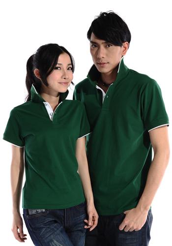 万博mantex手机登录绿色赛尔纯棉拉架珠地素色POLO衫